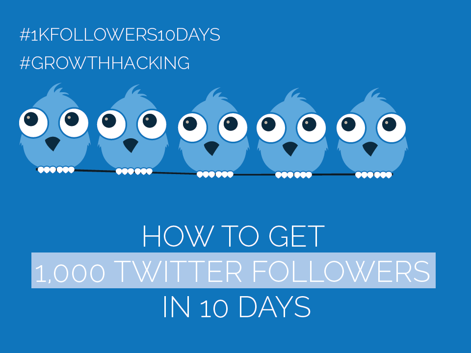 #Twitter Day 5 – Get 1,000 Twitter Followers in 10 Days [#1kfollowers10days #GrowthHacking]