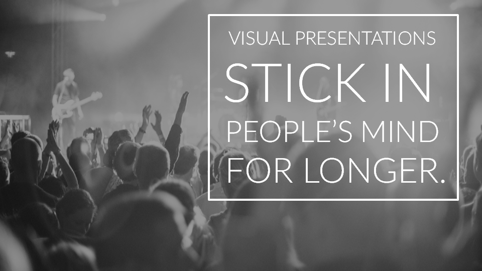Visual presentations stick in people's mind for longer