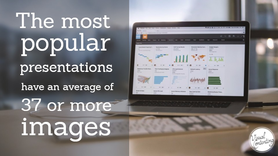 The most popular presentations have an average of 37 or more images