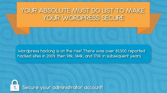 Your Absolute Must Do List to Make Your WordPress Secure [Infographic]