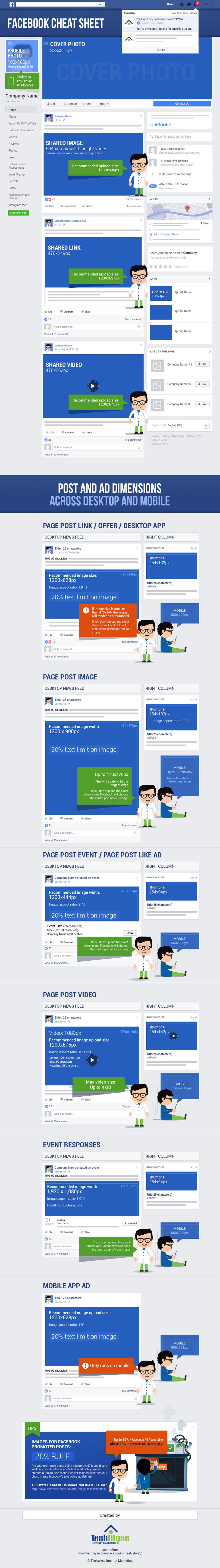 Facebook Image Cheat Sheet