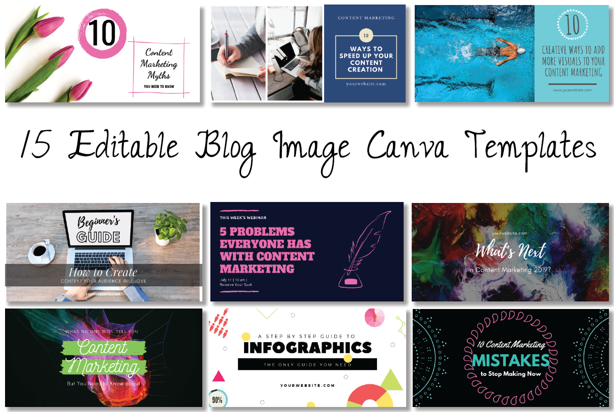 Blog Post Image Canva Templates
